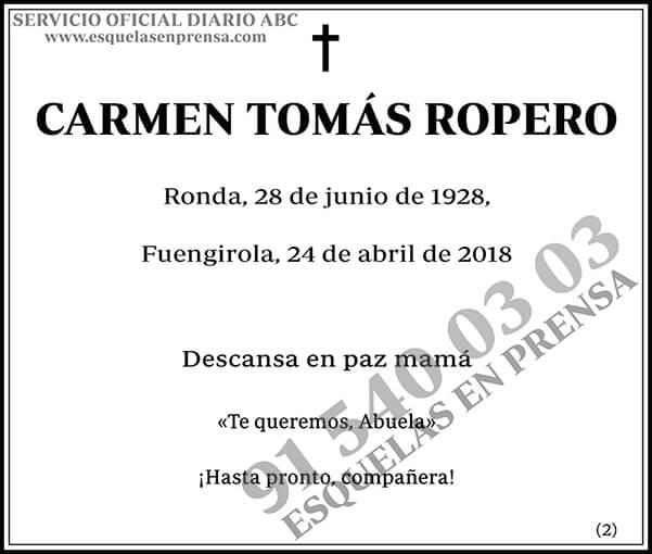 Carmen Tomás Ropero